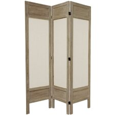 "67"" Solid Frame 3 Panel Room Divider"