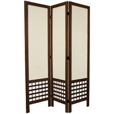 "<strong>Oriental Furniture</strong> 67"" x 42"" Open Lattice 3 Panel Room Divider"