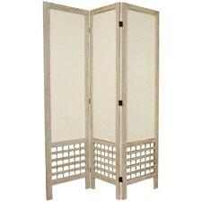 "67"" x 42"" Open Lattice 3 Panel Room Divider"