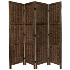 "67"" x 57"" Bamboo Tree Matchstick Woven 4 Panel Room Divider"