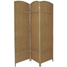 "71"" Tall Diamond Weave Fiber Room Divider"