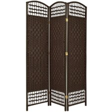 "5.5"" Tall Fiber Weave Room Divider in Dark Mocha"