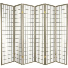 "<strong>Oriental Furniture</strong> 70"" x 84"" Window Pane Shoji 6 Panel Room Divider"