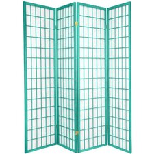 "<strong>Oriental Furniture</strong> 70"" x 56"" Window Pane 4 Panel Room Divider"