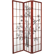 "70.25"" x 42"" Lucky Bamboo 3 Panel Room Divider"