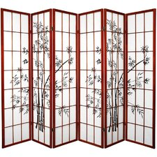 "70.25"" x 85"" Lucky Bamboo 6 Panel Room Divider"