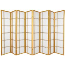 Double Cross Shoji Screen with Eight Panel in Honey