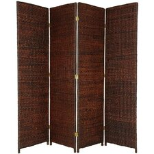 "71"" x 58"" Rush Grass Woven 4 Panel Room Divider"