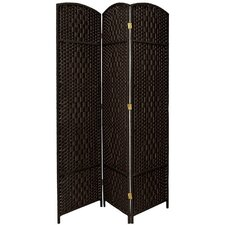 "82.75"" x 59.25"" Diamond Weave 3 Panel Room Divider"
