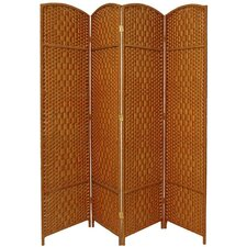 Diamond Weave 4 Panel Room Divider