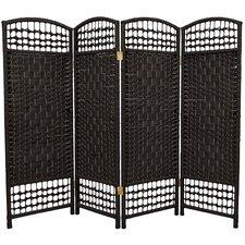 """47.25"""" x 64"""" Fiber Weave 4 Panel Room Divider"""