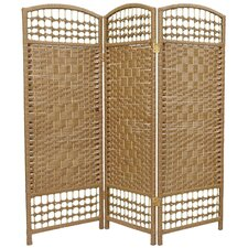 Fiber Weave 3 Panel Room Divider in Dyed Natural