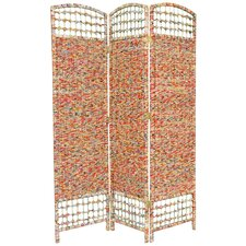 """67"""" x 47.25"""" Recycled Magazine 3 Panel Room Divider"""