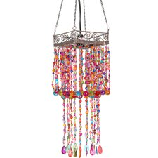 <strong>Oriental Furniture</strong> Draped Beads Hanging Lantern