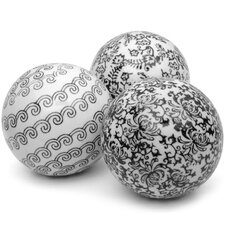 <strong>Oriental Furniture</strong> 3 Piece Decorative Ball Set