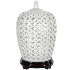 Carved Lattice Decorative Jar