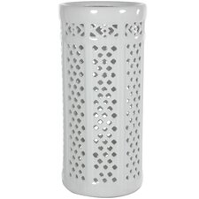 <strong>Oriental Furniture</strong> Carved Lattice Decorative Umbrella Stand