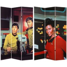 Tall Double Sided Star Trek Sulu, Chekhov, and Uhura Canvas Room Divider