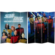 "<strong>Oriental Furniture</strong> 71"" x 63"" Star Trek Tall Double Sided The Next Generation 4 Panel Room Divider"