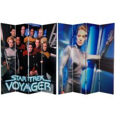 "71"" x 63"" Star Trek Tall Double Sided Voyager 4 Panel Room Divider"