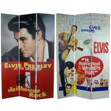 "71"" x 47.25"" Elvis Presley Tall Double Sided Jailhouse Rock 3 Panel Room Divider"