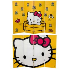 """48"""" x 63"""" Tall Double Sided Hello Kitty 4 Panel Room Divider"""