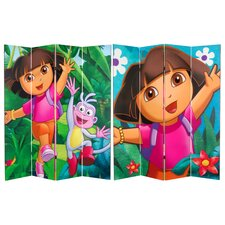 Tall Double Sided Dora the Explorer Canvas Room Divider