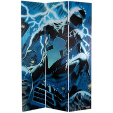 "71"" x 47.25"" Tall Double Sided Spider-Man Back 3 Panel Room Divider"