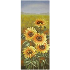 <strong>Oriental Furniture</strong> Hand Painted Sunflowers Portrait