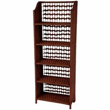 <strong>Oriental Furniture</strong> Natural Fiber Shelving Unit