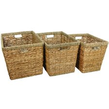 Hand Woven Storage Bin (Set of 3)