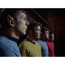 Star Trek Spock, Kirk, Bones, and Scotty Photographic Print on Canvas
