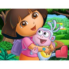 Dora and Boots Canvas Art