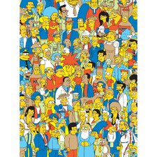 The Simpsons People of Springfield Graphic Art on Canvas