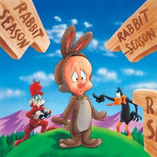 Bugs, Daffy and Elmer Fudd Rabbit Season Canvas Art