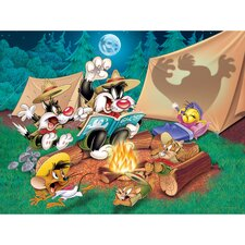 Sylvester and Tweety Camping Canvas Art