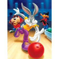 Bugs, Daffy and Taz Bowling Canvas Art