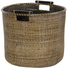 <strong>Oriental Furniture</strong> Rattan Round Storage Bin