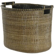 <strong>Oriental Furniture</strong> Rattan Oval Storage Bin
