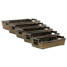 <strong>Oriental Furniture</strong> Rattan Open Baskets (Set of 5)