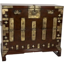 <strong>Oriental Furniture</strong> Korean Bandaji Blanket Chest