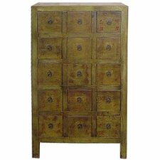 <strong>Oriental Furniture</strong> Chinese 15 Drawer Medicine Chest