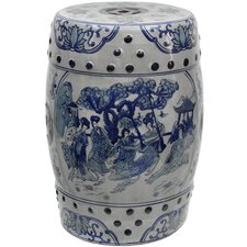 Ladies Porcelain Garden Stool