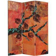 "<strong>Oriental Furniture</strong> 60"" x 47.25"" Rich Autumn 3 Panel Room Divider"