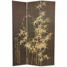 "70.25"" x 46.5"" Bamboo Tree Frameless Design 3 Panel Room Divider"