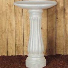 <strong>Union Products</strong> Round Bird Bath in White