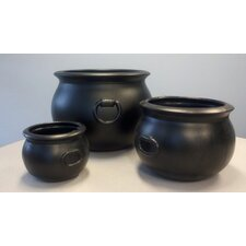 Cauldron Round Planters (Set of 3)