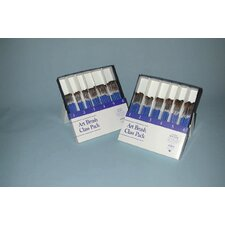 ART BRUSH CLASS PK - 144 Assorted ROUNDS