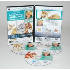 <strong>Weber Art</strong> HARRIS DVD SET ANIMAL OIL PAINTING - FAWN, BABY JACK RABBITS & SQUIRREL. INCLUDES 3 DVDs.  3 HOUR