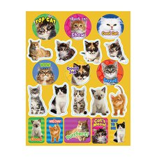 <strong>Eureka!</strong> Motivational Cats Theme Stickers